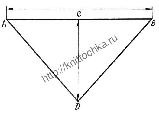 вязание косынки крючком: схемы