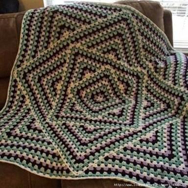 бабушкин квадрат вязание крючком накидки для начинающих