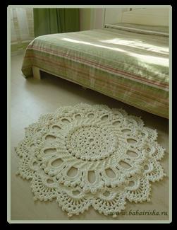 Вязание ковров из шнура крючком: схемы, мастер-класс с ...