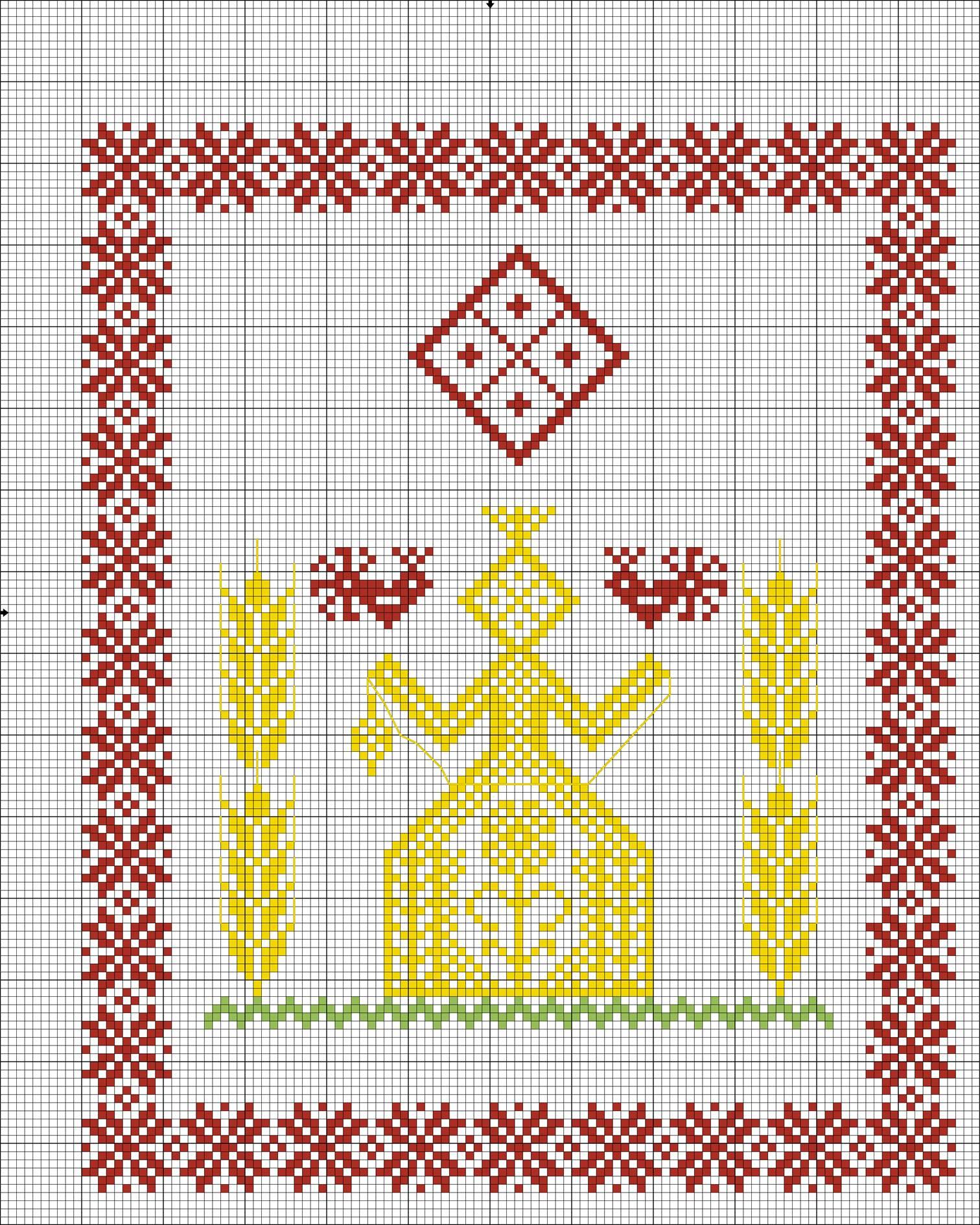 Схемы вышивки крестом пинетки