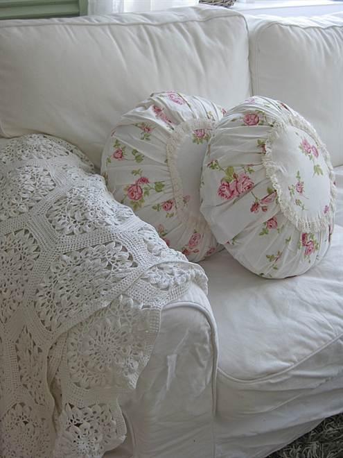 Как сшить круглую подушку с фото 128