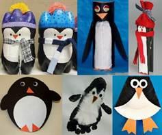 1-2434 Делаем пингвина из пластиковой бутылки своими руками