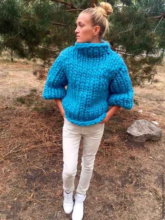 Красный свитер своими руками фото 447