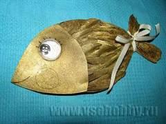 1-3212 Золотая рыбка своими руками: мастер класс с фото