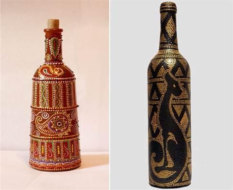 1-440 Мастер класс по росписи бутылки