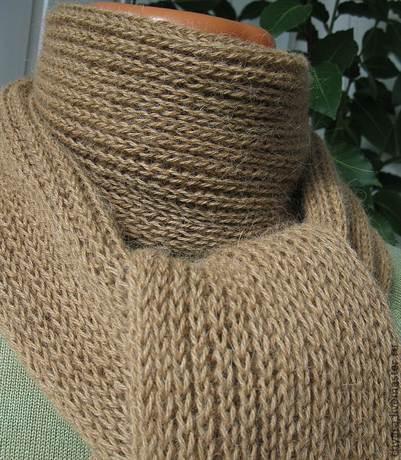 английская резинка спицами для шарфа схема вязания для начинающих