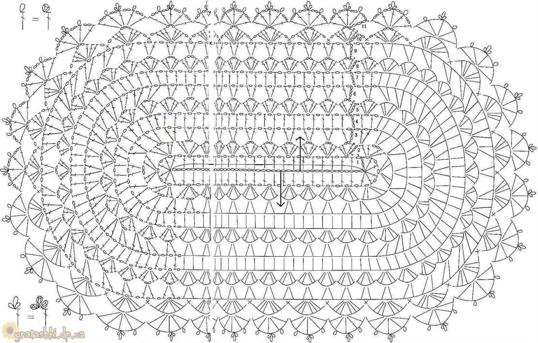 Овальная салфетка вязанная крючком схема фото 233