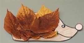 Как сделать ёжика из листьев фото 378