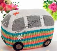 вязание игрушек спицами на примере игрушечного автобуса