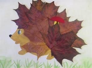 Как сделать ёжика из листьев фото 335