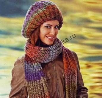 вязание спицами беретов для женщин