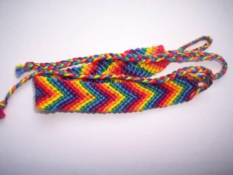 14-219 Как сделать браслет из ниток своими руками