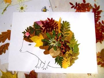Как сделать ёжика из листьев фото 595