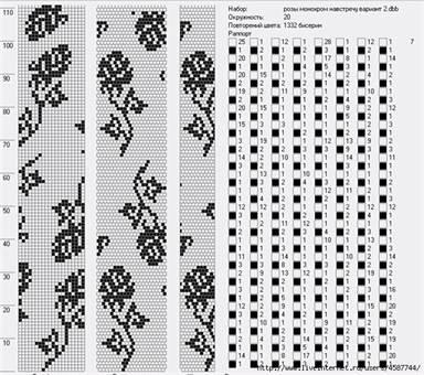 схемы жгутов из бисера легкий мастер класс плетения турецкого