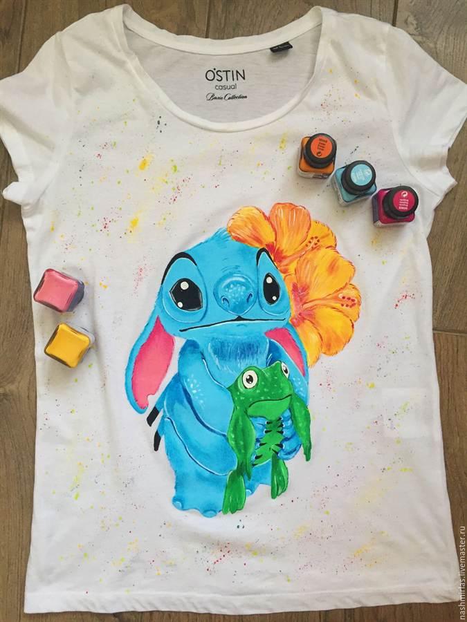Роспись по футболке своими руками