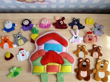 ручная работа, handmade, Ярмарка Мастеров,пальчиковый театр,пальчиковые куклы,пальчиковые игрушки,театр,развивающая игрушка,развивающие игрушки,мелкая моторика,подарок ребёнку,развитие мелкой моторики,развивающие игры,фетр