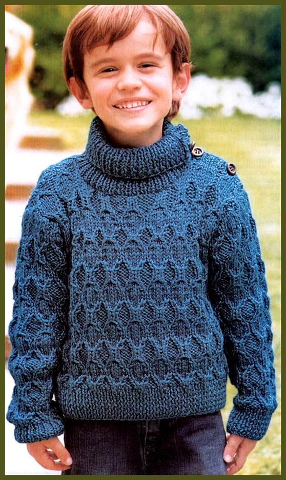 Джемпер для мальчика спицами схема