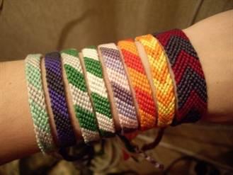 2-284 Как сделать браслет из ниток своими руками