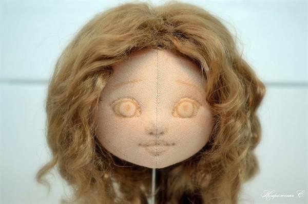 2-2980 Кукла Мастер-класс Шитьё Утяжки на кукольном теле МК Капрон. Утяжка лица куклы из капроновых колготок