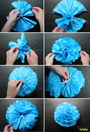 Как сделать пушистые шарики фото 148