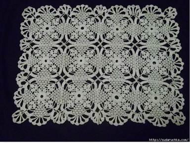 Прямоугольные салфетки крючком со схемами фото 274