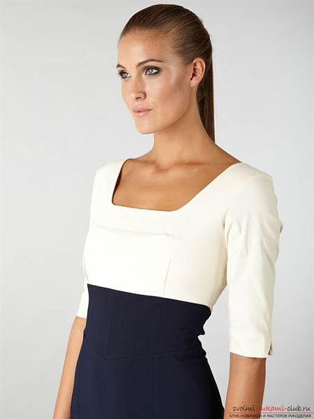 3-133 Выкройка платья с завышенной талией для полных и беременных дам