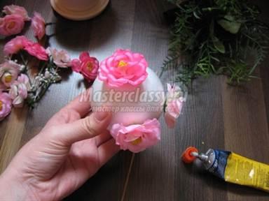 Искусственные цветы своими руками мастер класс видео фото 735