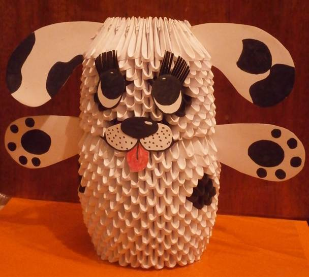 Модульное оригами собака схема фото 334