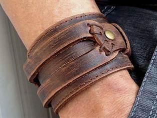 как сделать браслет из кожи своими руками мастер класс со схемами