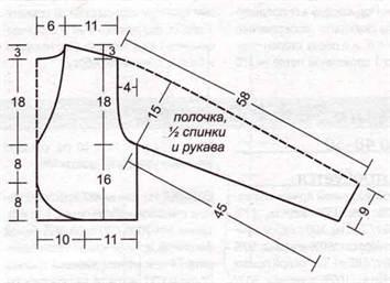 4-143 Выкройка летнего болеро в вечернем стиле