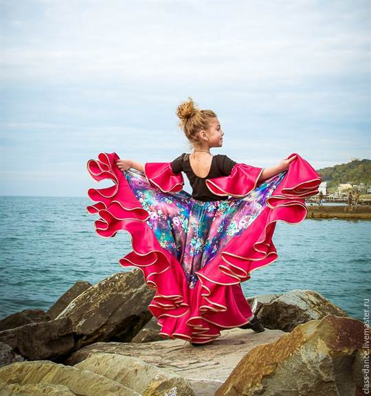 Цыганская юбка для танцев МК