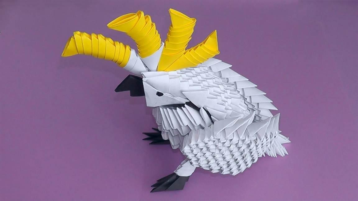 Как сделать из бумаги попугая схема фото 248