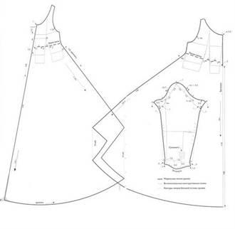 5-144 Выкройка платья с завышенной талией для полных и беременных дам