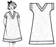 97e26e81189dadd Так, 6 класс шил фартук, а 7 класс ночную сорочку с цельнокроеным рукавом.  Используя эту модель в качестве основы, можно без особого труда сшить  рубашки для ...