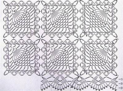 Прямоугольные салфетки крючком со схемами фото 245