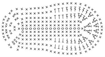 следки крючком схема с описанием работы как связать уютные носочки