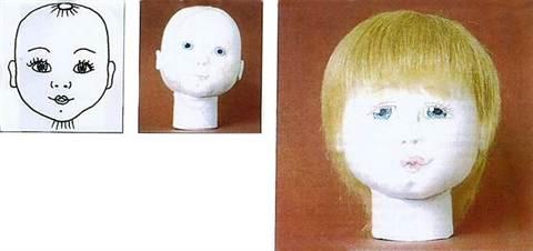 6-2934 Кукла Мастер-класс Шитьё Утяжки на кукольном теле МК Капрон. Утяжка лица куклы из капроновых колготок