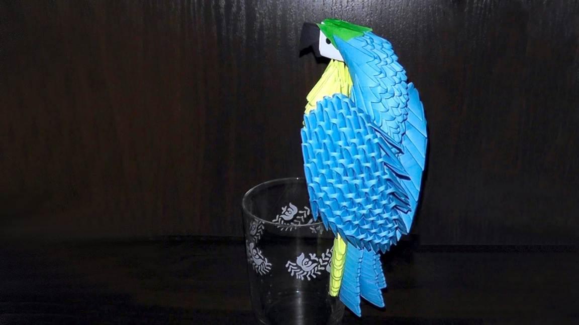 Как сделать из бумаги попугая схема фото 677