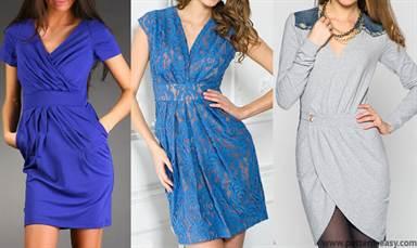 8-128 Выкройка платья с завышенной талией для полных и беременных дам
