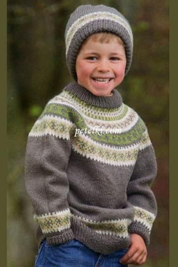 свитер для мальчика спицами реглан для малыша 1 3 лет с фото и видео