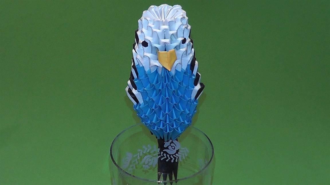 Как сделать из бумаги попугая схема фото 601