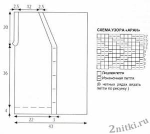 muzhskoy-hilet-s-risunkom-Aran-shema