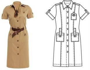 d9510a26acf Платье в стиле сафари своими руками с фото выкроек